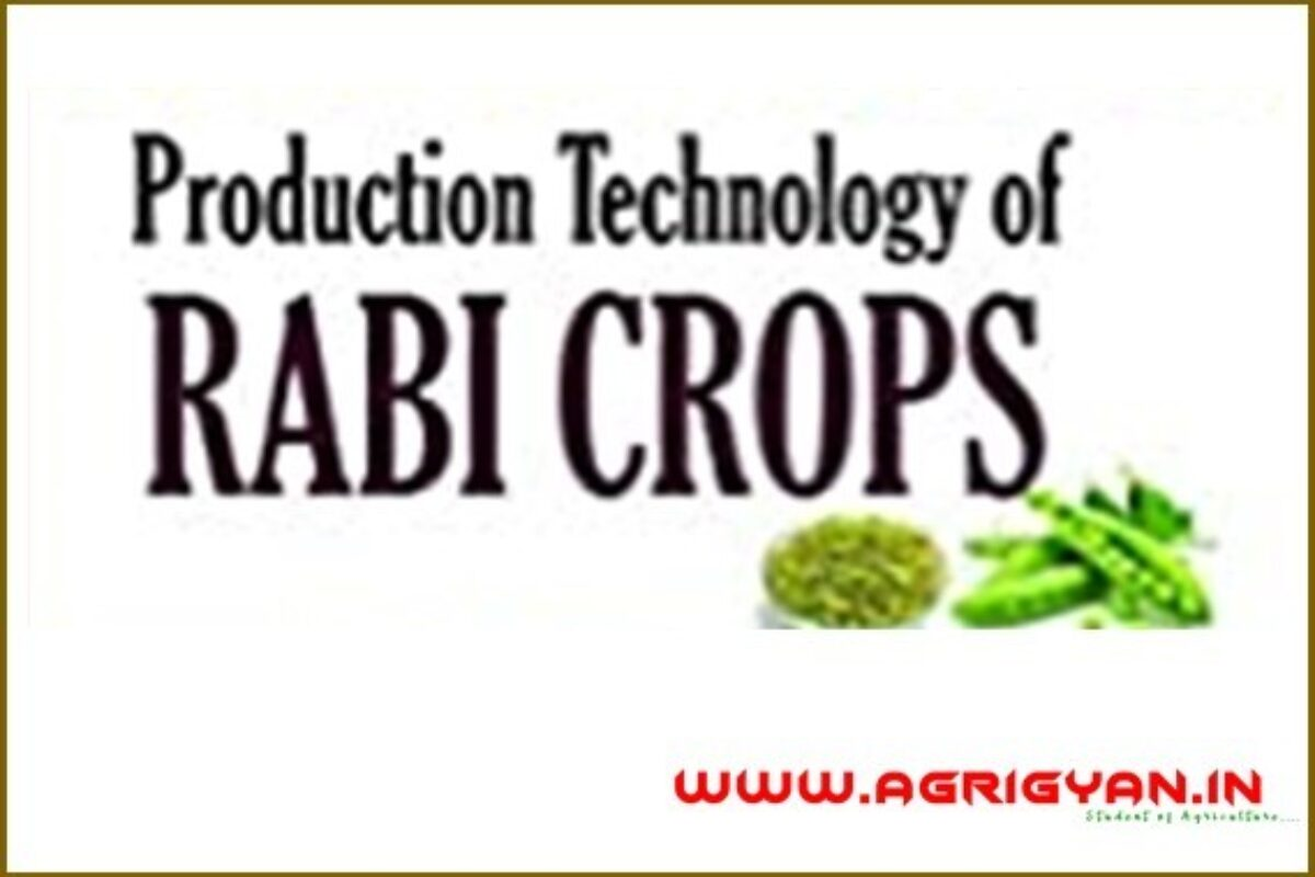 Crop Production Technology-2 (Rabi Crops) PDF