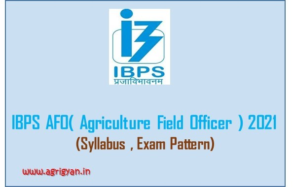 IBPS AFO( Agriculture Field Officer ) 2021 – Syllabus , Exam Pattern