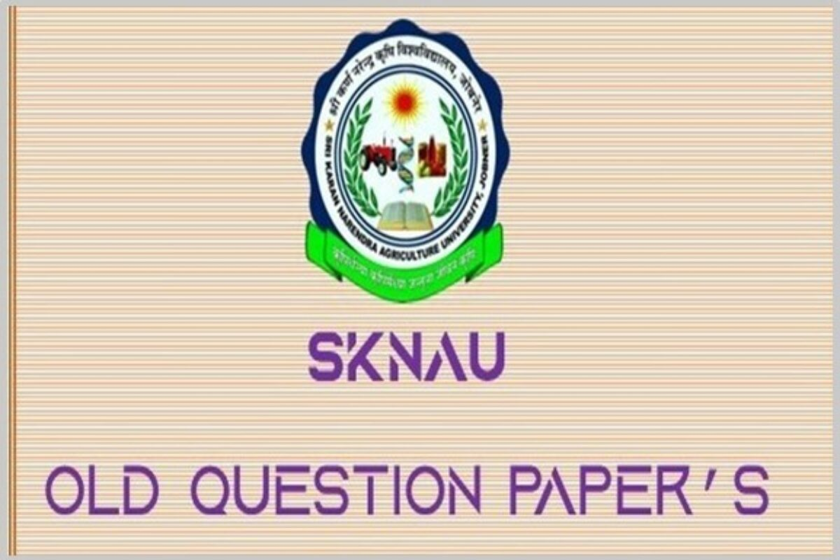 SKNAU Old Question's Paper's PDF 2018-19